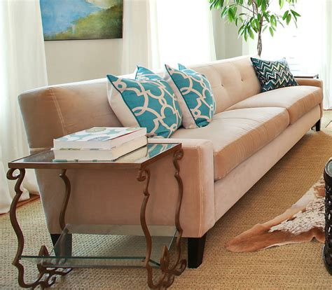 tmd taupe velvet sofa