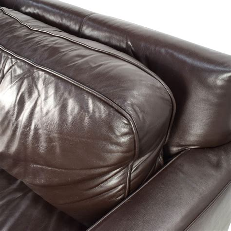 west elm leather sofa 50 off west elm west elm henry leather sofa sofas