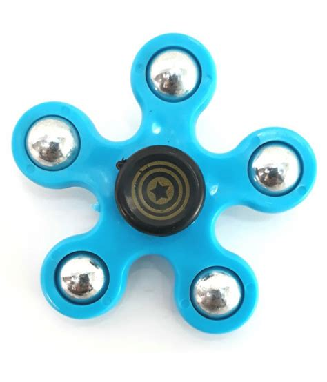 fidget spinner 5 arms blue buy fidget spinner 5 arms blue at low price snapdeal