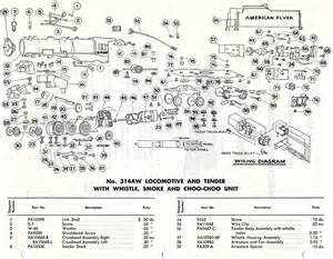 american flyer locomotive 314aw parts list diagram traindr