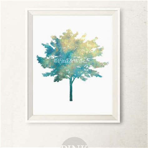 printable wall art for bedroom printable art print blue tree wall art from pinkandwise
