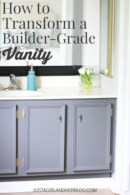 How To Change A Bathroom Vanity How To Transform A Builder Grade Vanity Pinterest Gardens Home And We