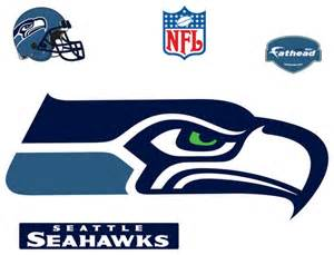 Seattle seahawks logo fathead nfl wall graphic