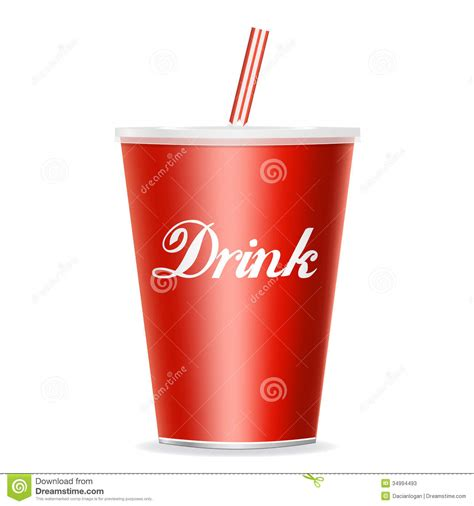 drink vector drink cup with straw stock vector illustration of drink