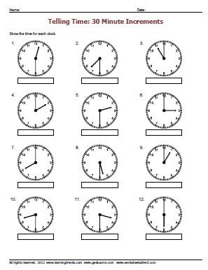 clock worksheets hour and half hour telling time to the hour worksheets new calendar