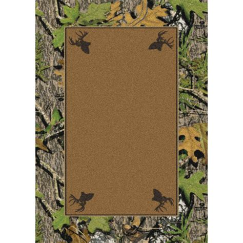 marshall 4x6 mossy oak 174 obsession 174 all camo area rug