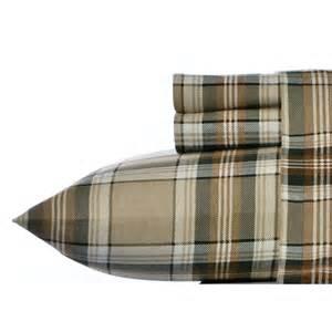 eddie bauer edgewood plaid dark pine flannel sheet set