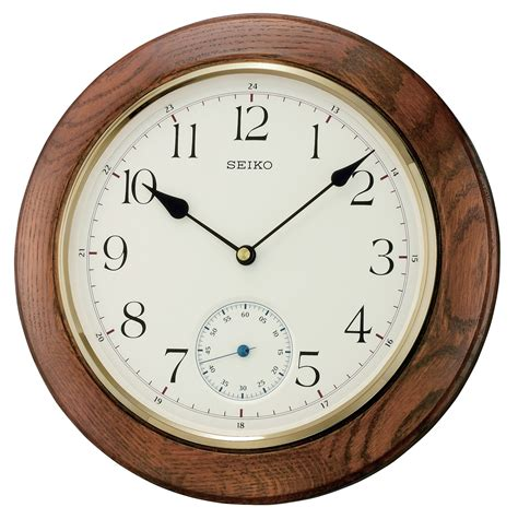 silent wall clocks seiko clocks dark oak wooden circular silent wall clock
