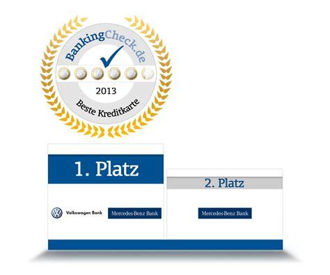 kreditkarte volkswagen bank bankingcheck award 2013 kreditkarte bankingcheck de