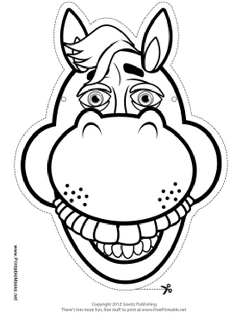 printable horse mask template printable horse mask to color mask