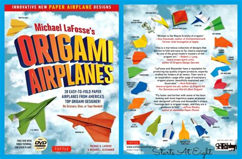 Origami Paper Airplanes Book - homeschool science aerodynamics with paper airplanes