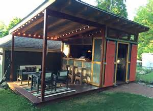 backyard bar plans 25 best ideas about backyard cabana on scream