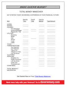 Free Budget Template Dave Ramsey best photos of dave ramsey monthly budget printable free