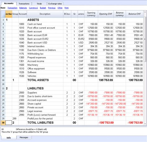 Currency Chart by The Multi Currency Chart Of Accounts Banana Accounting 7
