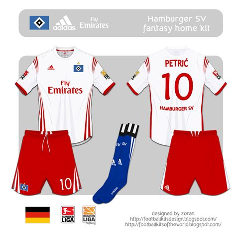 media football hamburger sv kits
