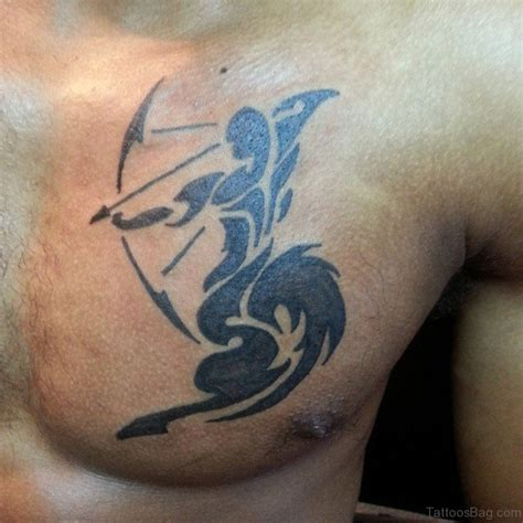 tribal zodiac tattoos sagittarius 63 zodiac tattoos for chest