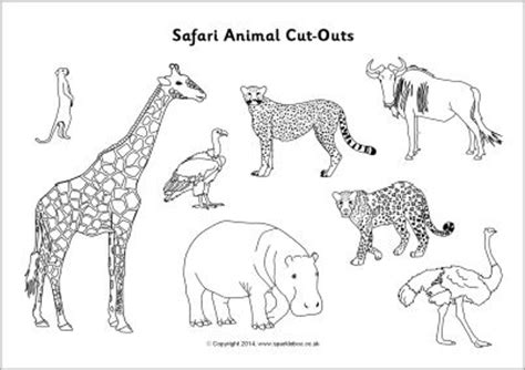 free printable zoo animal cutouts safari animal cut outs black and white sb10302