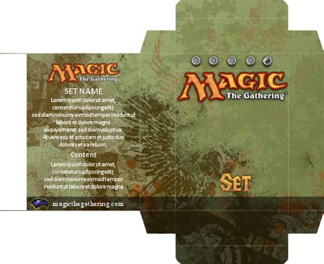 Magic Card Box Template by Magic Card Box Template By Screallix On Deviantart