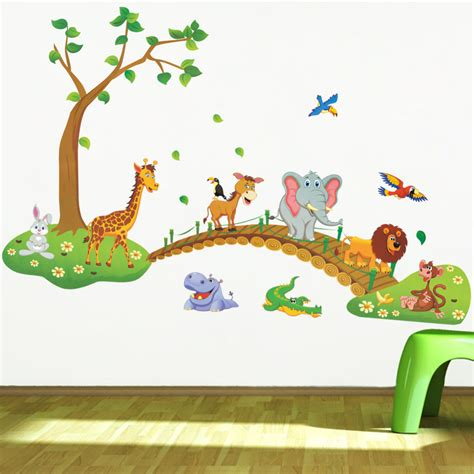 In The Garden Wall Stickers Forest Animal Kindergarten Wall Stickers For