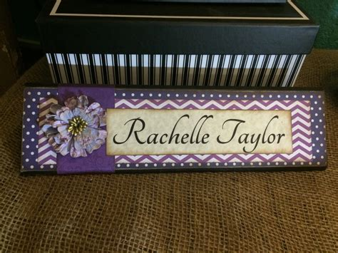Handmade Name Plates - unique wooden office desk name plate plaque block handmade