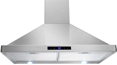 stainless steel kitchen exhaust hoods range hoods reviews top 5 wall mount chimney range hoods