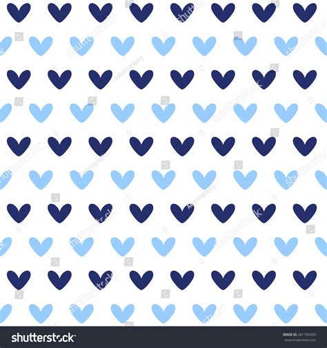 pattern blue heart dark blue and blue heart seamless pattern 2 stock vector