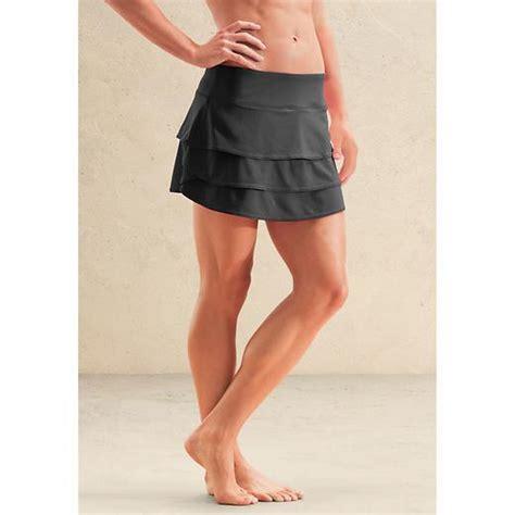 athleta m nwot black layered swagger skort skirt 8 10 m ebay