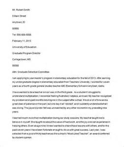 Letter Of Intent Template Graduate School by Letter Of Intent Personal Statement Graduate School