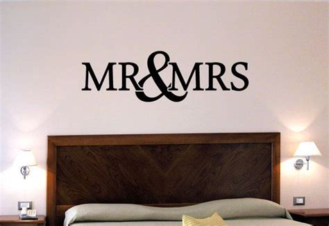 Mr And Mrs Wall Decor by Mr Mrs Wall Decal Large Bedroom Wall Above Bed