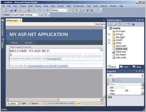 tutorial visual studio 2010 asp net asp net visual studio 2010 file structure shotdev com