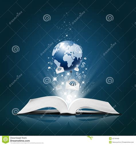 Book Of Earth earth and business collection on open book royalty free