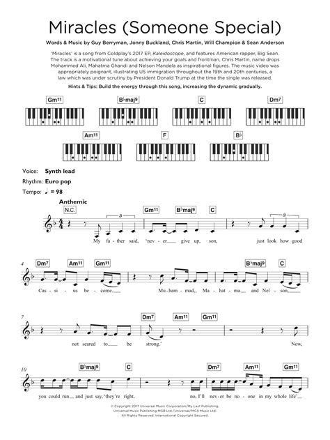 coldplay miracles someone special lyrics sheet music digital files to print licensed guy berryman