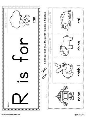 letter  beginning sound flipbook printable