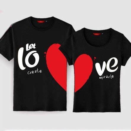 Matching Print Shirt t shirts for couples gullei korean style