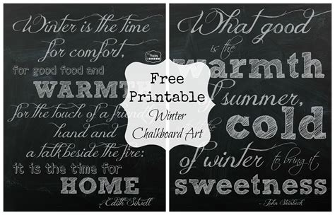 printable chalkboard art winter chalkboard quotes quotesgram