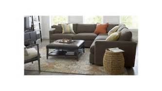 lounge ii 3 sectional sofa taft truffle crate and