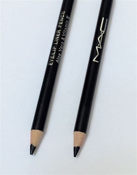 mac cosmetics pro black eyeliner pencil smokey effect eye