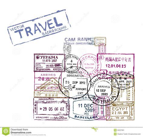 passport background pattern vector vector passport sts stock image image 35037681
