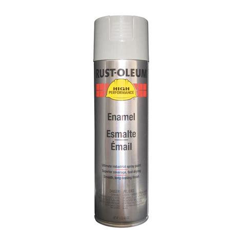 shop rust oleum high performance light machine gray enamel spray paint actual net contents 15