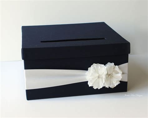 Navy Blue Wedding Card Box   Celebrations   Card box