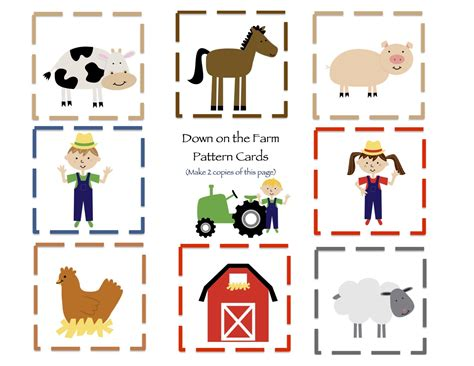 animal cards template homeschool on the farm interactive writing