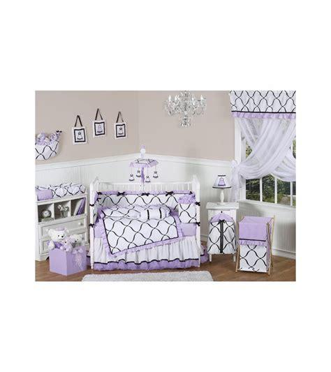 Jojo Designs Crib Bedding Sets Sweet Jojo Designs Princess Black White Purple 9 Crib Bedding Set