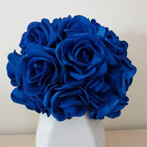 100 pcs bleu Royal mariage Arrangement fleurs artificielles