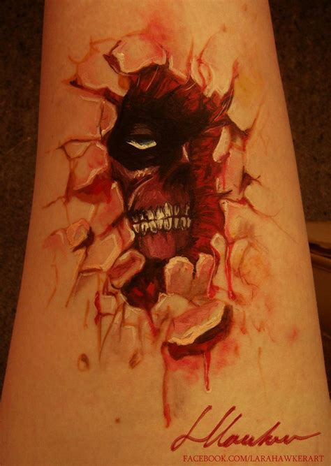 attack on titan tattoo attack on titan attack on titan bodypaint by