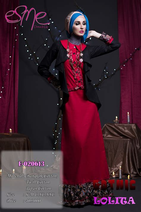 Gamis Abaya Syari Bangkok Stabilo esme e 020613 baju muslim gamis modern