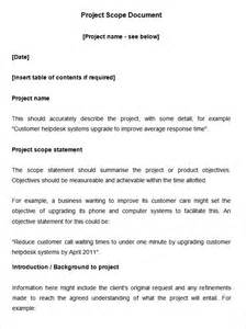 writing a scope of work template scope of work template 31 free word pdf documents