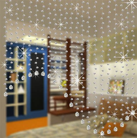 crystal beads curtains 20meters set crystal glass beads strands door curtain