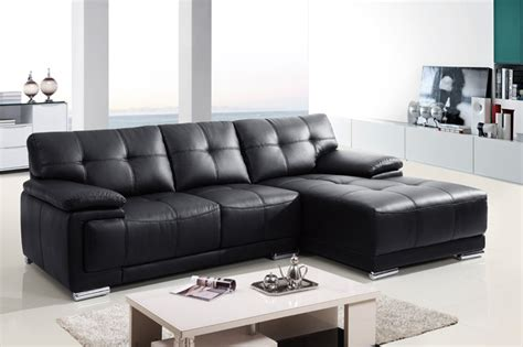 small black leather sectional sofa modern small black leather sectional sofa chaise
