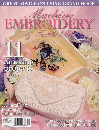 design in embroidery magazine machine embroidery projects home design elements