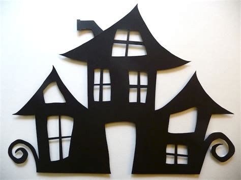 Haunted House Outline by Haunted House Cut Out Artclubblog